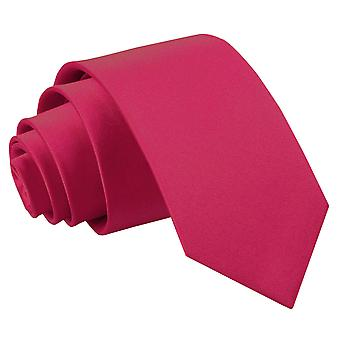 Boy's Plain Crimson Red Satin Tie (8+ years)