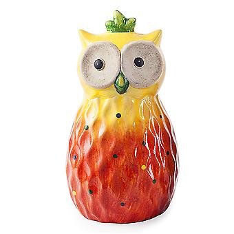Oranje Tropic Sunshine Terracotta Owl tuin Ornament