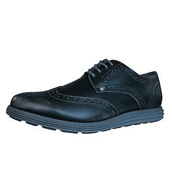 Firetrap Bud Mens Lace up Brogues / Shoes - Charcoal Grey
