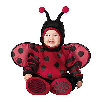 Itty Bitty Ladybug Ladybird insekt Deluxe buksetrold piger kostume