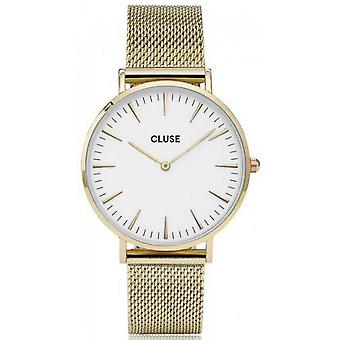Watch Cluse Bohemia CL18109 - watch Golden mixed Milanese