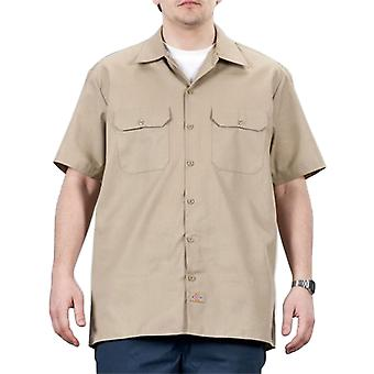 Dickies - Short Sleeve Work Shirt - Khaki Dickies1574KH Mens Classic Work Shirt