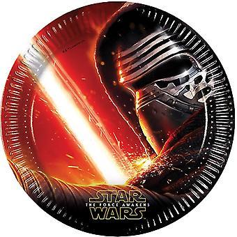 Star Wars plate papir plate barna partiet 8 St styrken våkner barn bursdag