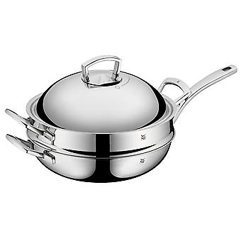 WMF Stainless Steel Wok 32 Cm with Steaming Insert