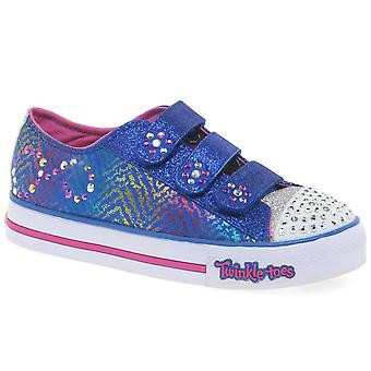 Skechers Twinkle Toes Step Up Girls Canvas Shoes