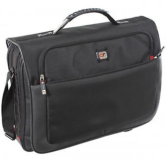 Gino Ferrari Titan 17inch Laptop Messenger Bag - Black