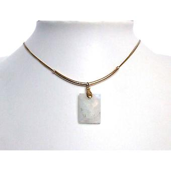 Moonstone necklace gold Lady chain gold Moonstone necklace gold plated