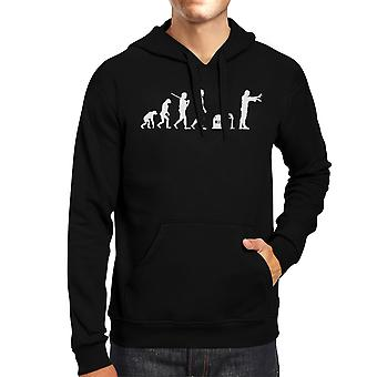 Evolution Zombie Hoodie Black Pullover Halloween Hoody Fleece Top