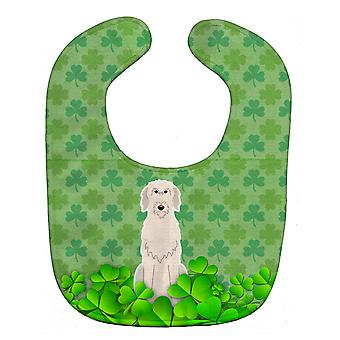 Carolines Treasures  BB6206BIB Irish Wolfhound Shamrocks Baby Bib