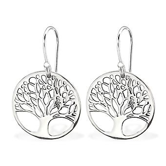Tree Of Life - 925 Sterling Silver Plain Earrings - W29428x