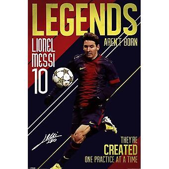 Messi - Legends Arent Born Poster Poster Print