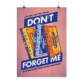 Matte or Glossy Poster with Don't Forget Me Vintage | Wellcoda | *d2835
