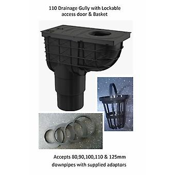Underground Drainage Gully 110 or 125 mm Outlet For Downpipes 80,90,10,110,125mm