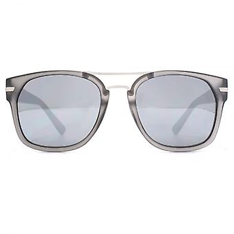 French Connection Metal Bridge Square Sunglasses In Matte Grey