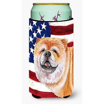 Cane Corso Patriotic Tall Boy Beverage Insulator Hugger
