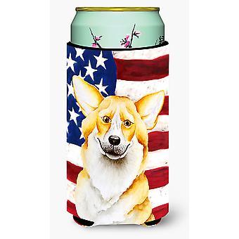 Corgi patriotischen großer Junge Getränk Isolator Hugger