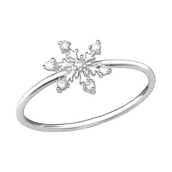 Snowflake - 925 Sterling Silver Jewelled Rings - W33902X