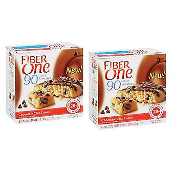 Faser eines 90 Kalorien Chocolate Chip Cookie Brownies 2 Box Pack