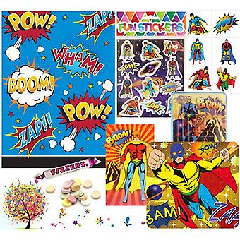 Pre Filled Ready Made Party Bag - Unisex - Superhero (Single )