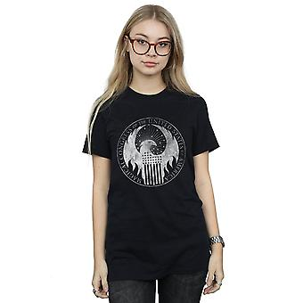 Fantastic Beasts Women's Distressed Magical Congress Boyfriend Fit T-Shirt