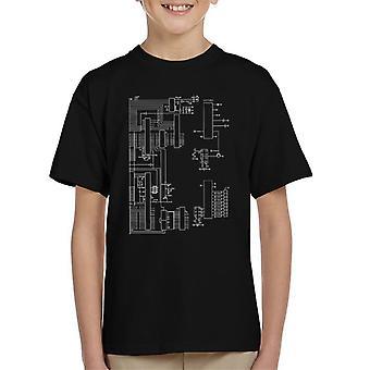 Nintendo Computer Schematic Kid's T-Shirt