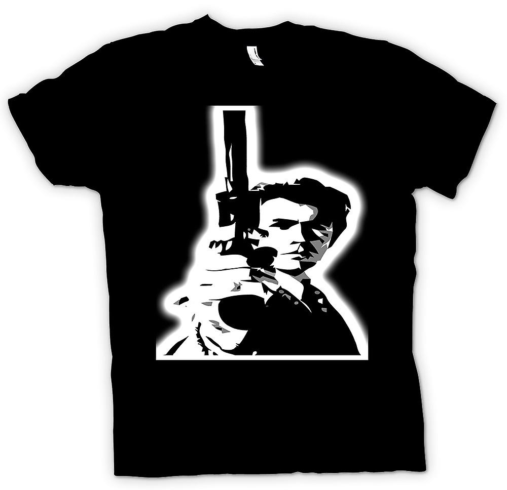 Mens T-shirt - Dirty Harry - Gun BW