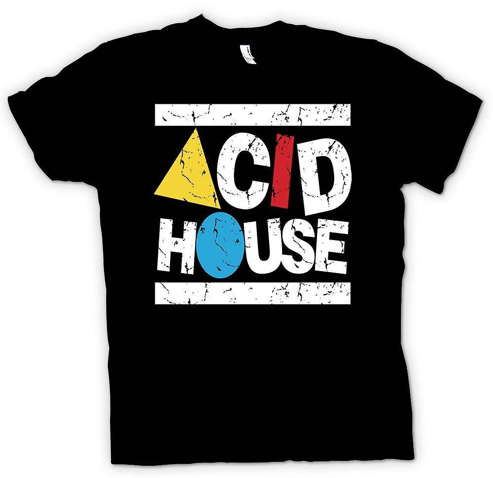 Mens t-skjorte - Acid House - Clubbing