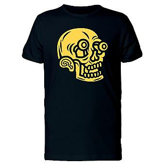 Crazy Funny Yellow Skull Tee Men's -Image by Shutterstock