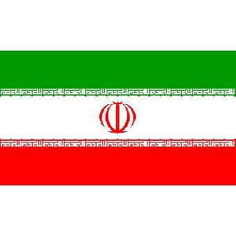 Iraanse vlag 5 ft x 3 ft met oogjes voor verkeerd-om