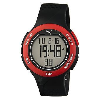 PUMA assistir toque unisex do relógio pulso digital PU911211001 preto vermelho