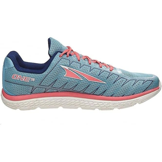 One V3 Womens Zero Drop Road Running Shoes Blue/Coral