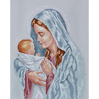 The Blessed Mother Counted Cross Stitch Kit-12