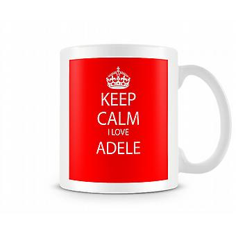 Keep Calm I Love Adele Printed Mug