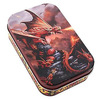 Anne Stokes Age Of Dragons Fire Dragon Metal Tin
