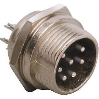 BKL Electronic 0206015 Mini DIN Stecker-Stecker, vertikale Montage Anzahl der Pins: 6 Silber 1 PC