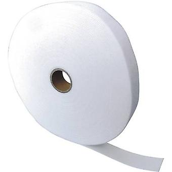 Hook-and-loop tape for bundling Hook and loop pad (L x W) 25000 mm x 40 mm White Fastech ETN FAST-Strap 40 MM 25 m