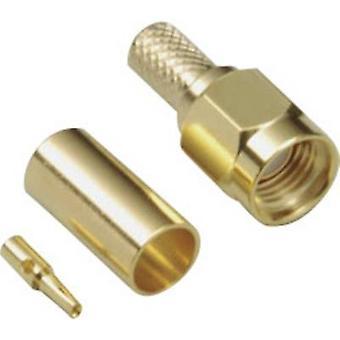 SMA reverse connecteur fiche, tout droit 50 Ω BKL électronique 0409083 1 PC (s) de la polarité