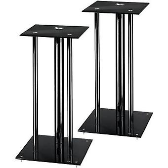 Hama Next Speaker stand Rigid Max. distance to floor/ceiling: 64 cm Black 1 pair