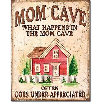 Letrero de Metal cueva madre