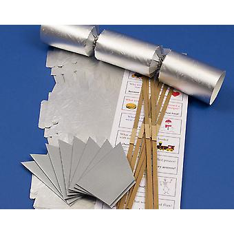 8 Silver Embossed Make & Fill Your Own Cracker Making Craft Kit