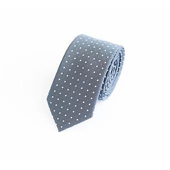 Tie tie tie tie 6cm grey Fabio Farini white dotted