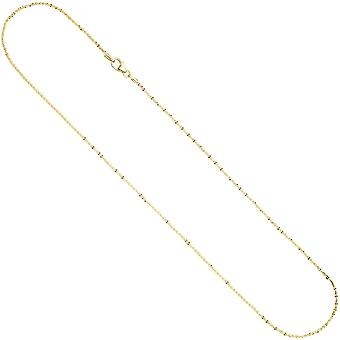 Criss-Cross Necklace chain 333 Gold 1,3 mm 45 cm necklace gold necklace carabiner