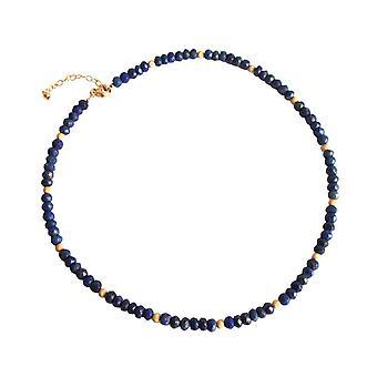 Lapis lazuli necklace lapis lazuli gemstone necklace gold plated