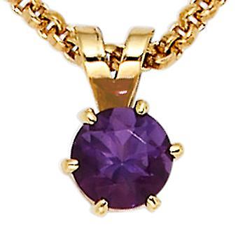 Amethyst pendant Amethyst purple 585 Gold Yellow Gold 1 Amethyst violet