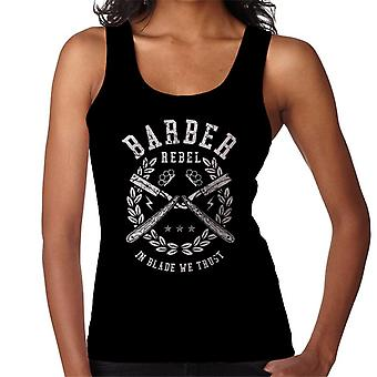 Barber Rebel Retro Logo Women's Vest
