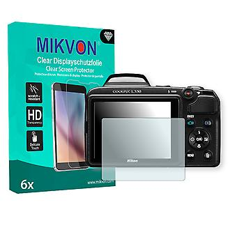 Nikon COOLPIX L330 Screen Protector - Mikvon Clear (Retail Package with accessories)