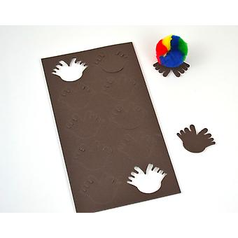 10 Foam Self Adhesive Feet Shapes for Bugs - Brown | Childrens Craft Foam