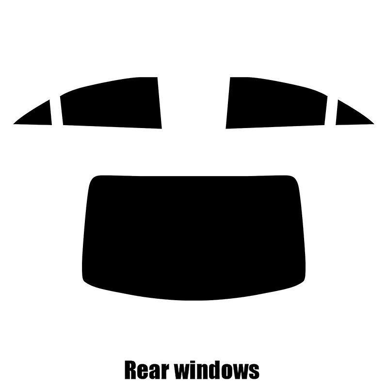 Pre cut window tint - Mercedes CLS 4-door Saloon - 2007 to 2011 - Rear windows