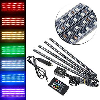 båt/12smd/9smd RGB LED Strip DC12V bil 6000 K RGB LED Strip Neon understell Under bilen Tube Underglow System lys Kit