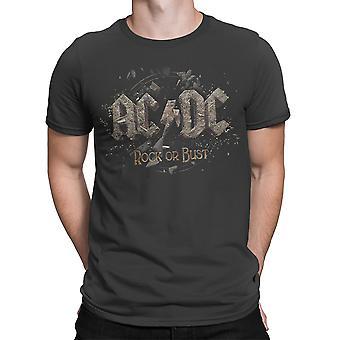 Ac/Dc Rock Or Bust  Mens T-Shirt